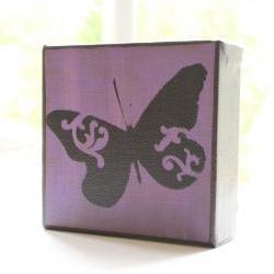 Butterfly in Purple- 4x4 Art Block