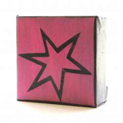 Pow-Comic-Art Block- Hot Pink-Free Shipping